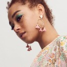 Marte Frisnes Cooper Earrings - Denim thumbnail