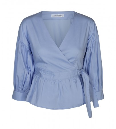Co' Couture Wrap Poplin Shirt