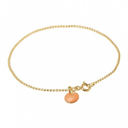 Enamel Bracelet Ball Chain - Peach