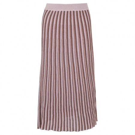 Neo Noir Diddi Stripe Knit Skirt - Powder