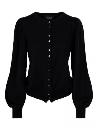 ella&il Kate Merino Cardigan - Black