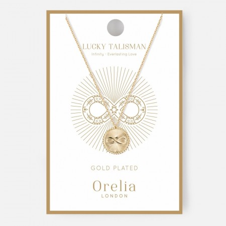 Orelia Lucky Talisman Infinity Necklace