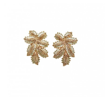 Pico Elsie Crystal Studs - Light Green