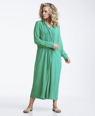 Line Of Oslo Annabel Solid Dress - Green