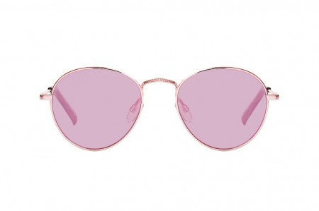 Le Specs Zephyr - Rose Gold With Rose Revo Mirror Lens