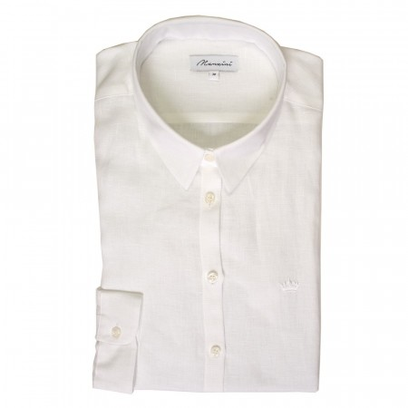East West Manzini Linen Shirt - White