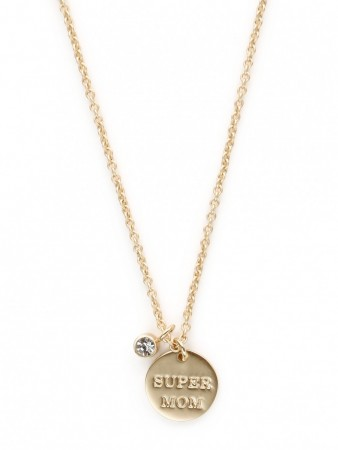 Secrets By B Crystal Super Mom Necklace
