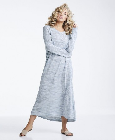 Line Of Oslo Fun Silk Kjole, Light Blue