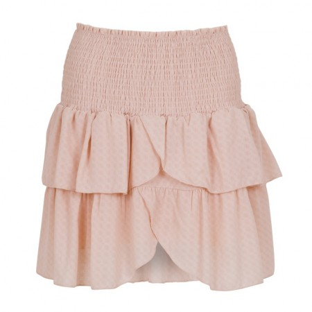 Neo Noir Carin Dobby Skirt - Powder