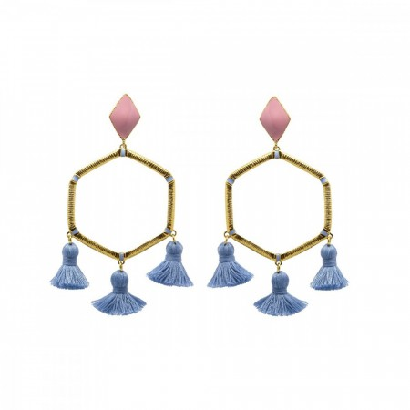 Marte Frisnes Cooper Earrings - Denim
