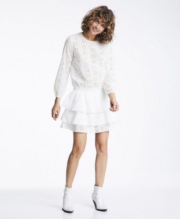 Line Of Oslo Mini Lace Dress - Creme