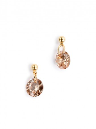 Secrets By B Clean Sparkling Earrings - Champagne
