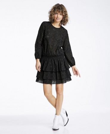 Line Of Oslo Mini Lace Dress - Black