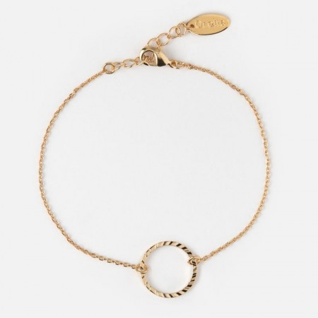 Orelia GOLD PLATED OPEN CIRCLE BRACELET