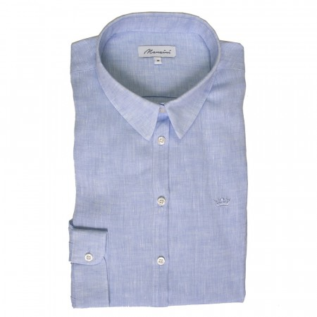 East West Manzini Linen Shirt - Light Blue