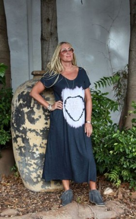 Agencies Turquoise Love Muse Maxi - Charcoal Jodhpur