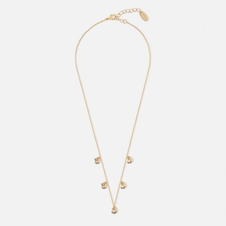Orelia Mini Shell Drop Necklace - Gold