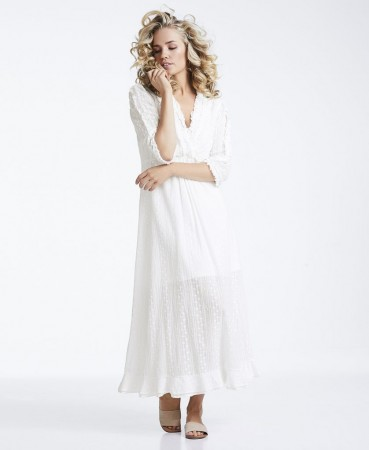Line Of Oslo Zelena Long Dress