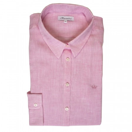 East West Manzini Linen Shirt - Pink