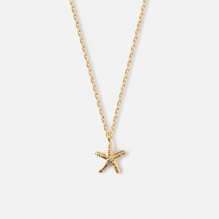 Orelia Starfish Charm Necklace - Gold