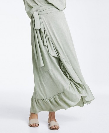 Line Of Oslo Magic Lurex Skirt - Green