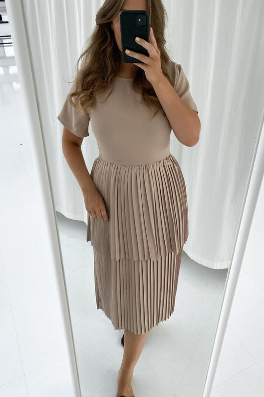 BY IC Long Maiken Dress - Beige