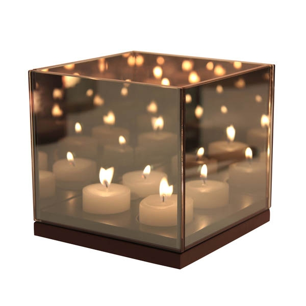 Klevering Tealight Reflection Quartet - Sort