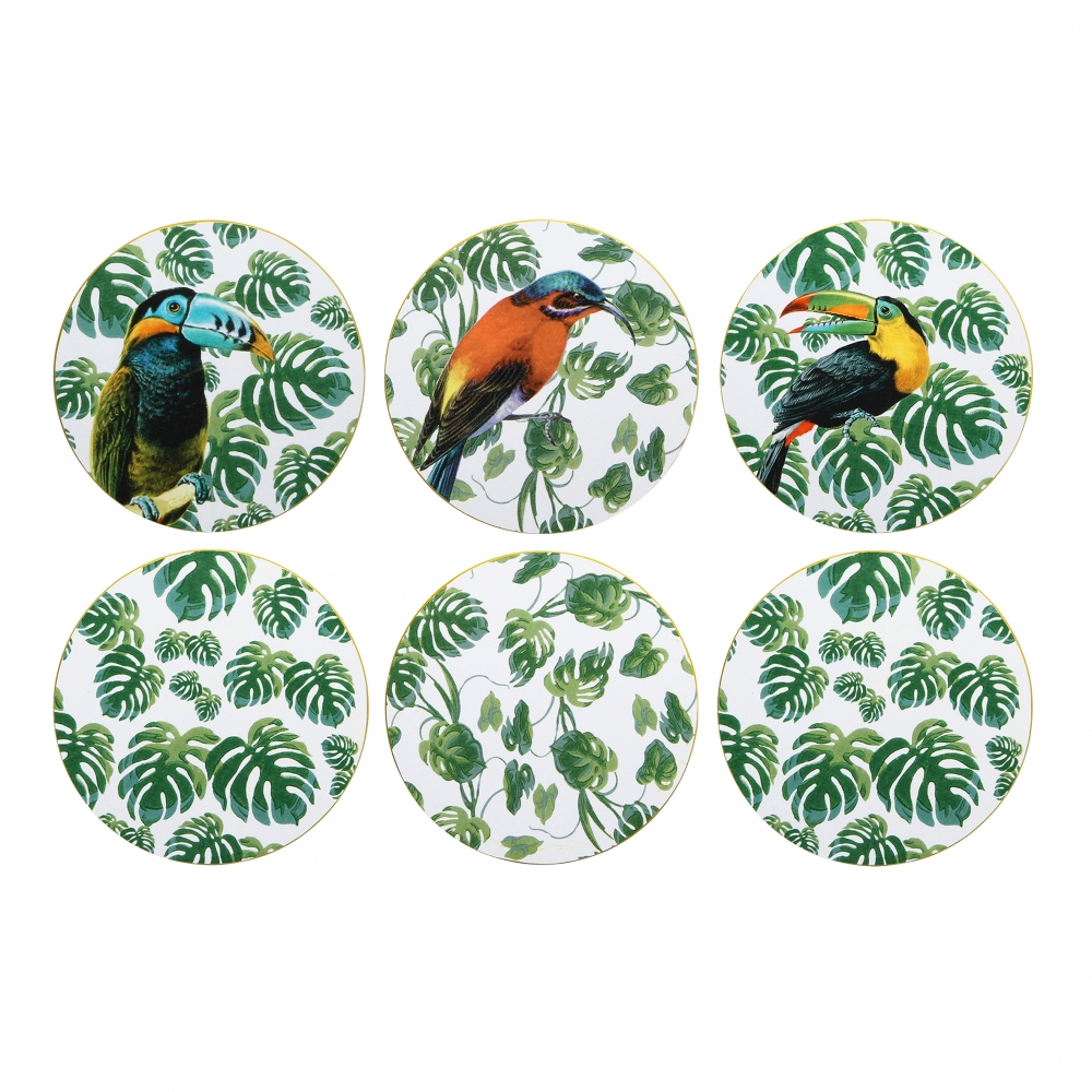 Klevering Coaster Jungle, Set Of 6