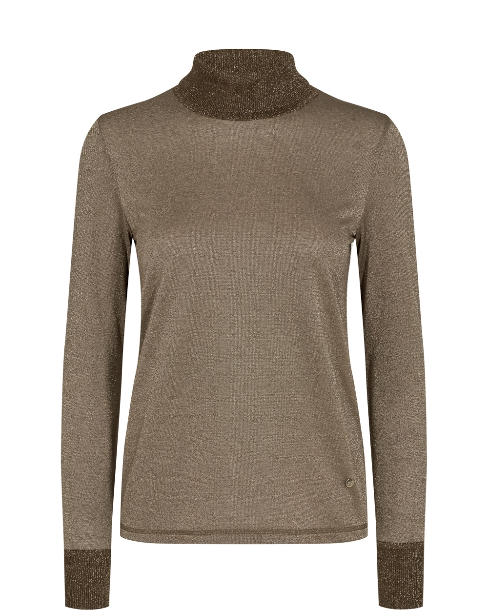 Mos Mosh Casio Roll-neck Tee LS - Chocolate Chip