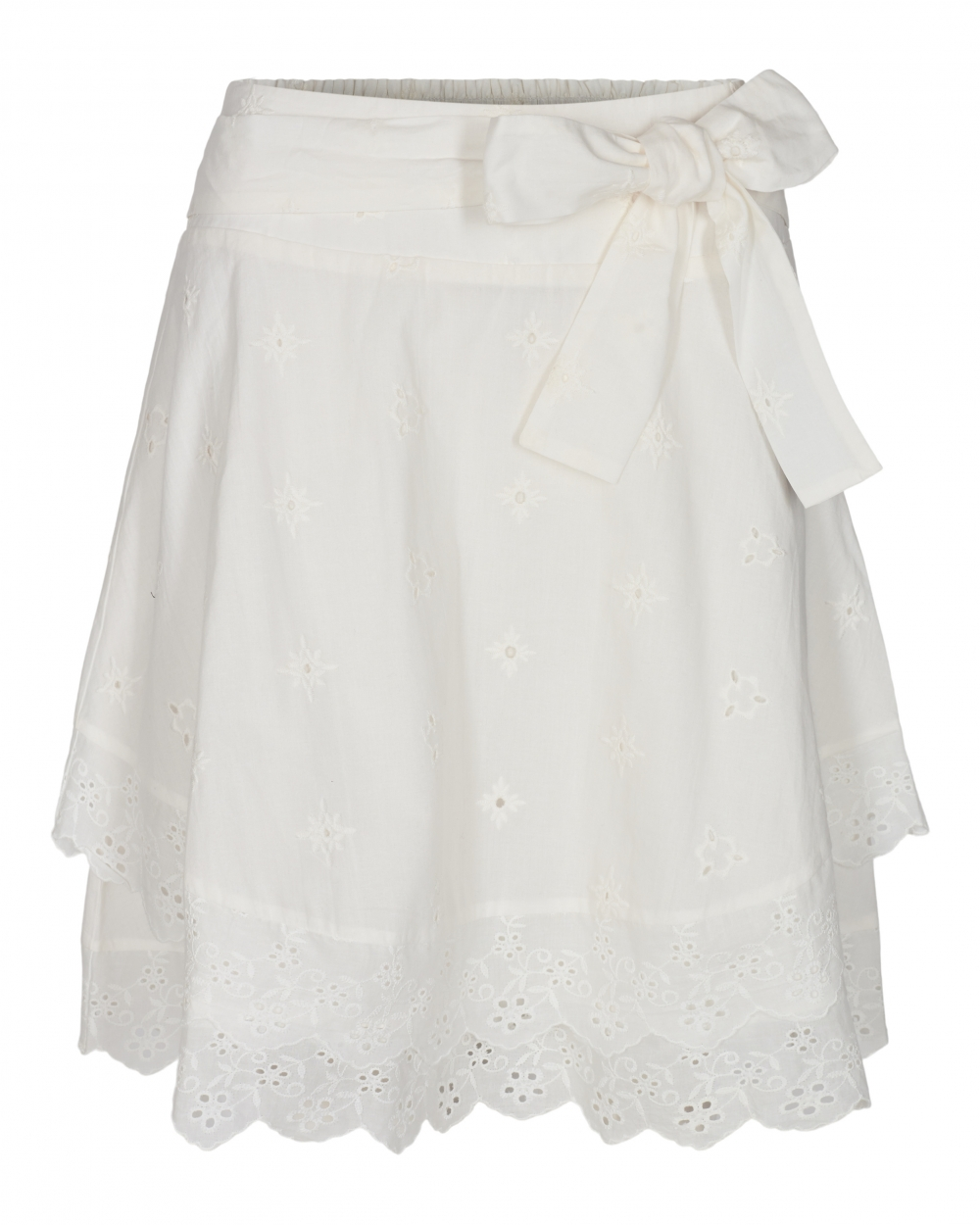 Co´ Couture Leila Anglaise Smock Skirt - White
