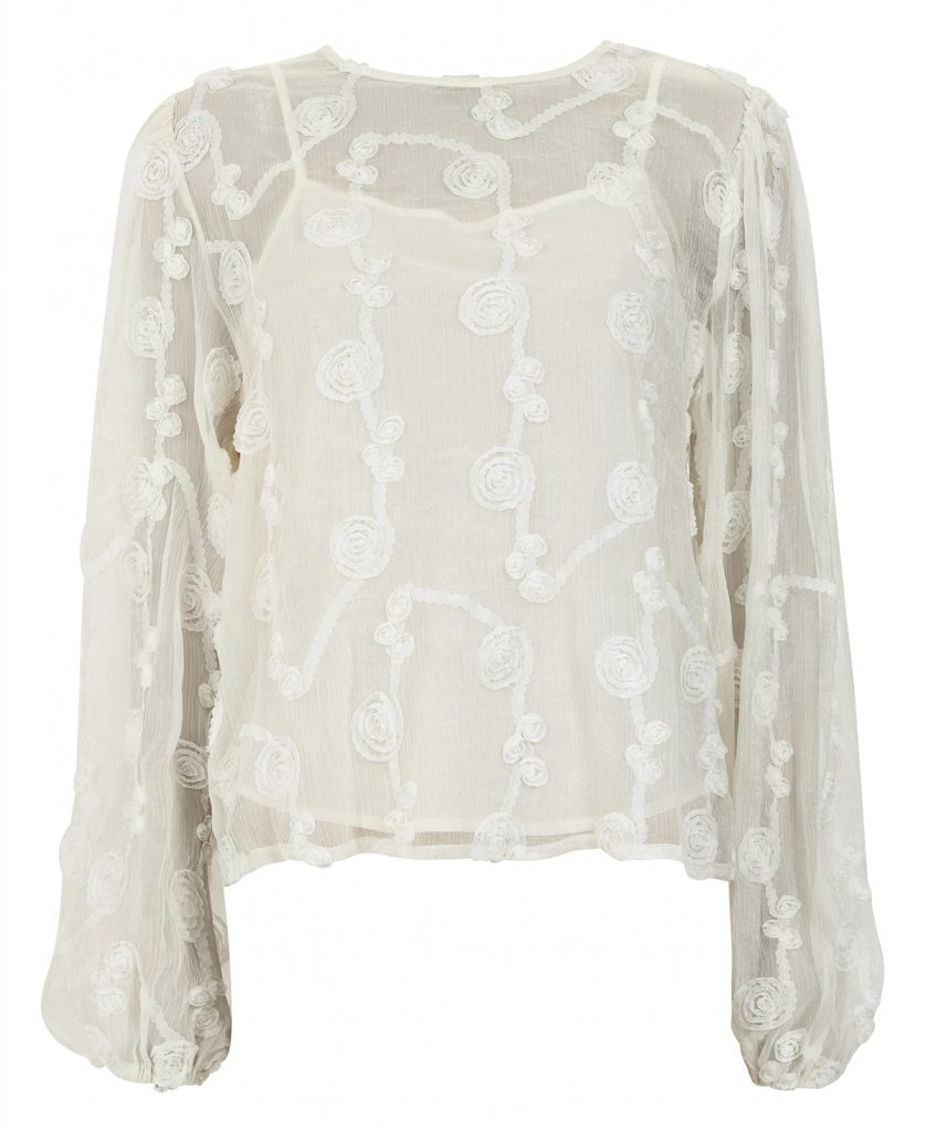 Line Of Oslo Ice Roseblouse - Creme