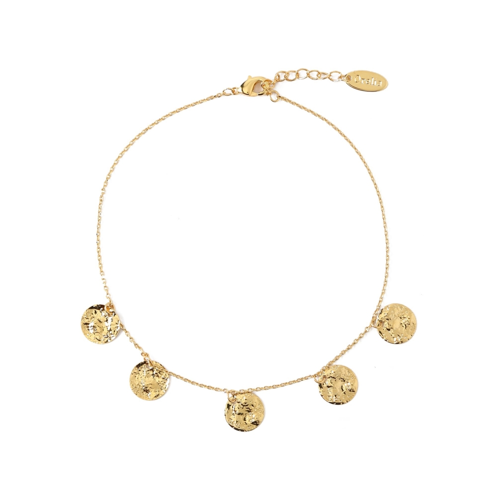 Orelia Multi Coin Drop Anklet