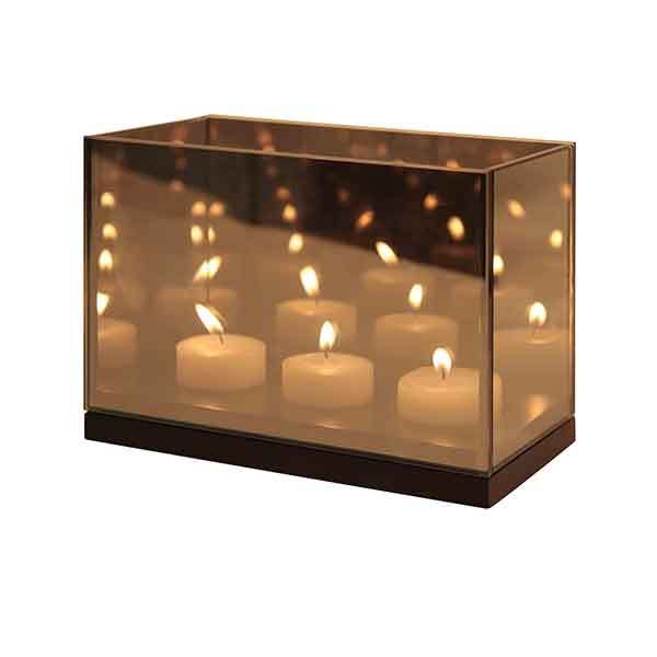 Klevering Tealight Reflection Triple - Sort