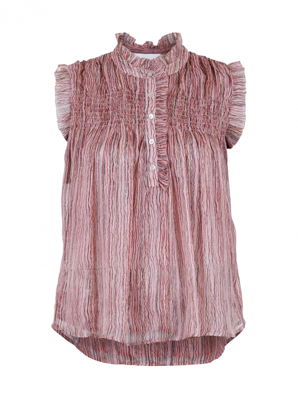 Neo Noir Ylva Mini Stripe Top - Dusty Rose