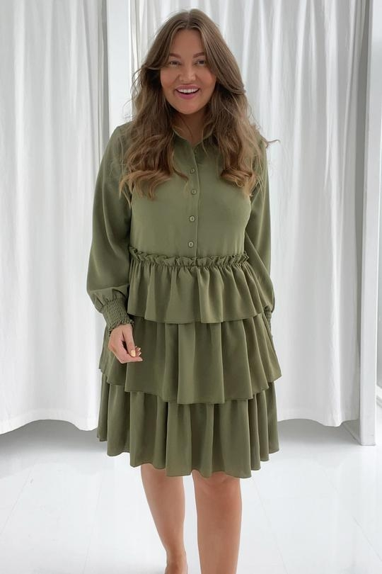 BY IC Milana Dress - Army Green