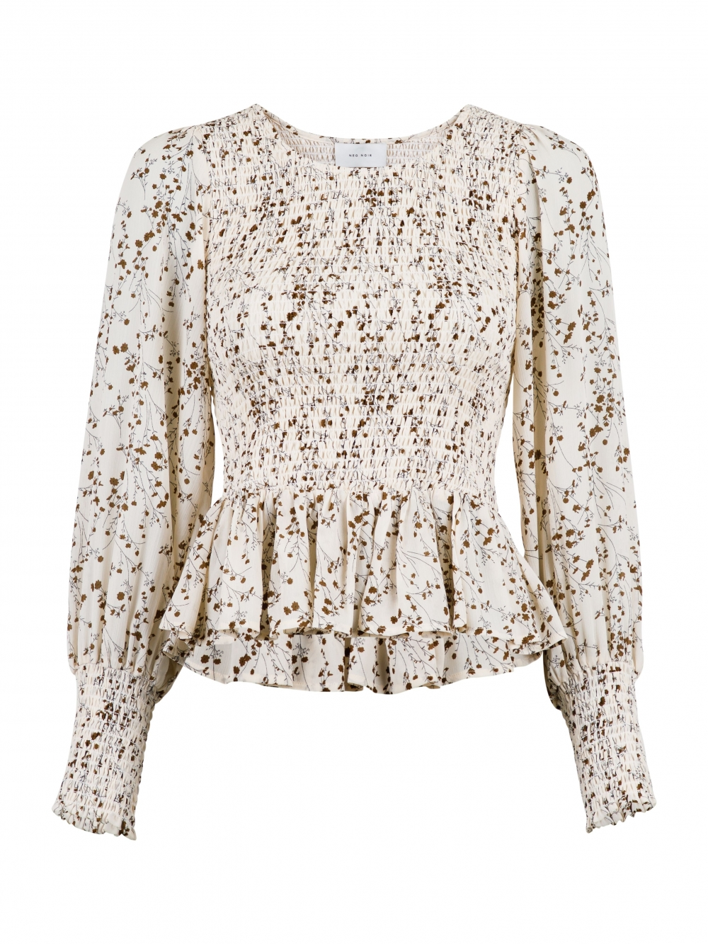 Neo Noir Stelli Flower Bud Blouse - Off-White