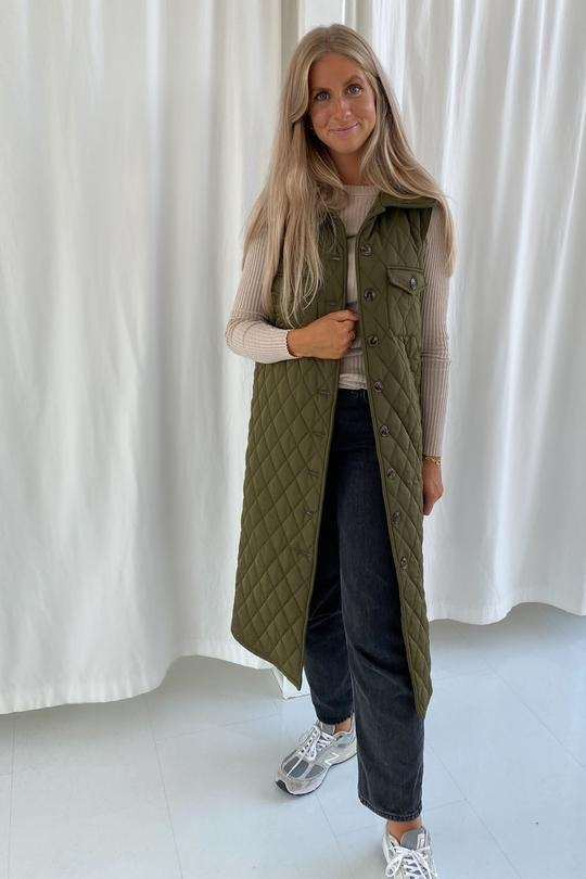 BY IC Maluca Vest - Quilted Green