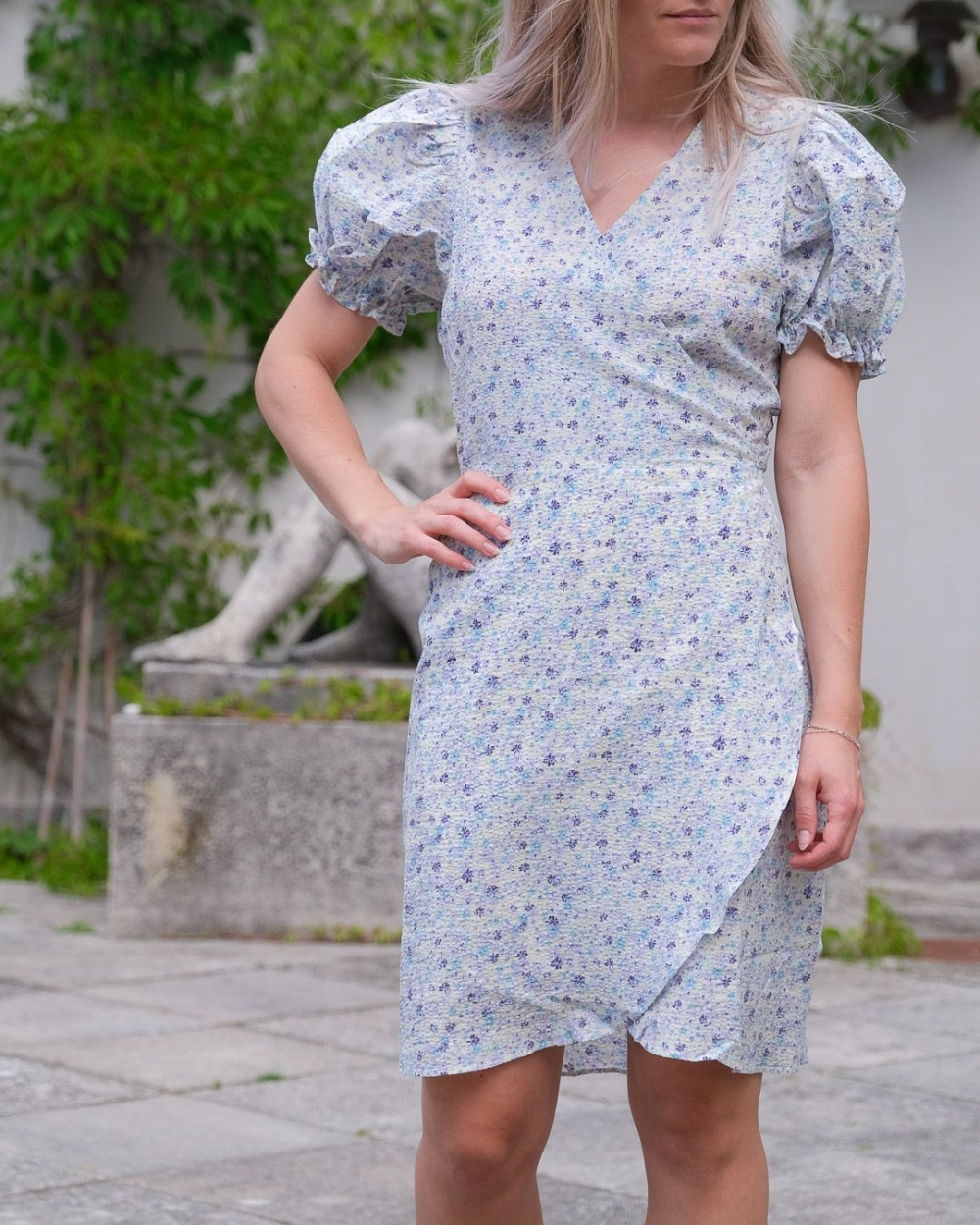 Neo Noir Spang Summer Floral Dress - Light Blue