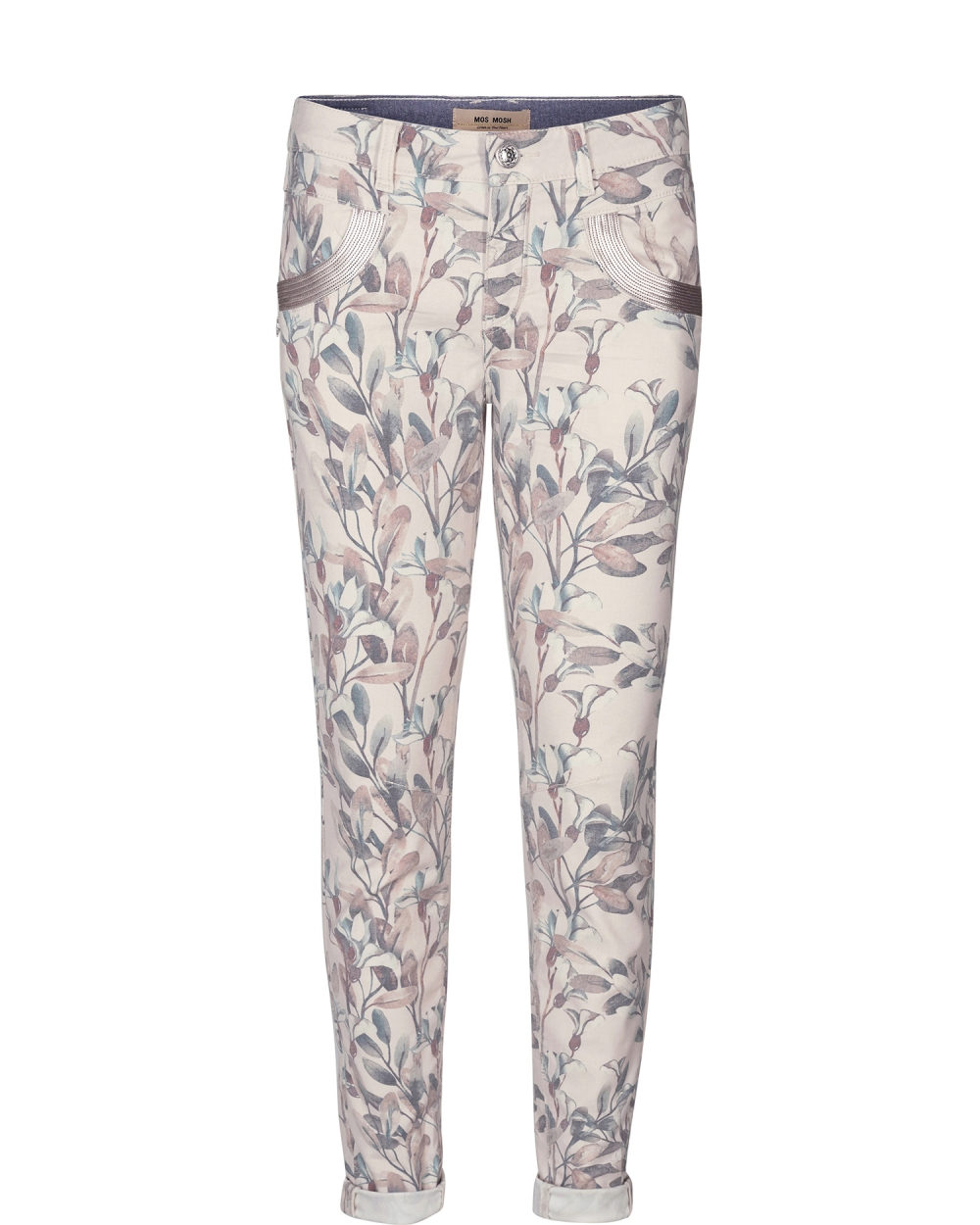 Mos Mosh Naomi Olive Pant - Blue Flower